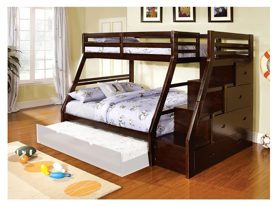 Ellington Twin Full Bunk Bed In Dark Walnut Shop For Affordable