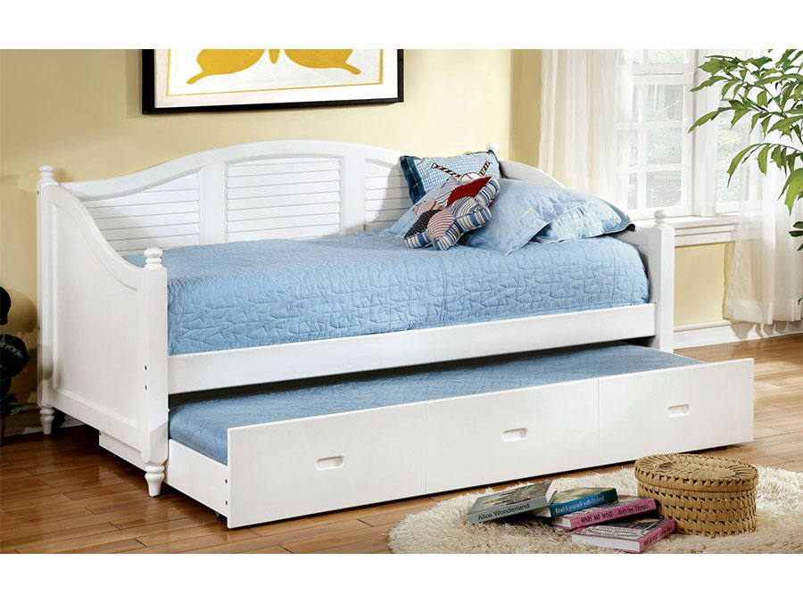 Bel Air Day Bed W Trundle In White Shop For Affordable Home
