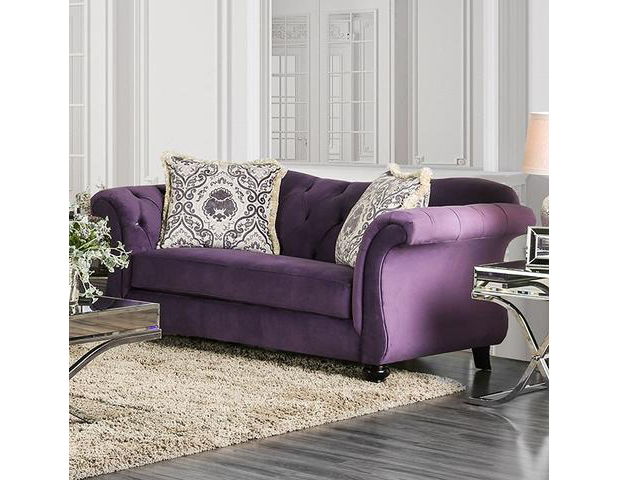 Marvelous Antoinette Purple Sofa Set Gmtry Best Dining Table And Chair Ideas Images Gmtryco
