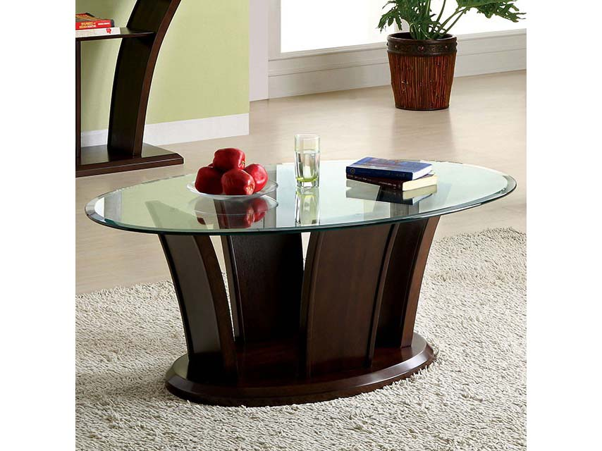 Beau Manhattan IV Dark Cherry Coffee Table