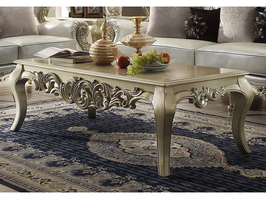 Clic Luxury Silver Wood Coffee Tail Table