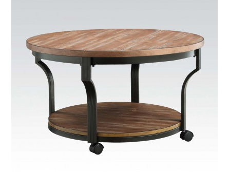 Geoff Round Oak Black Coffee Table Shop For Affordable Home Furniture Decor Outdoors And More