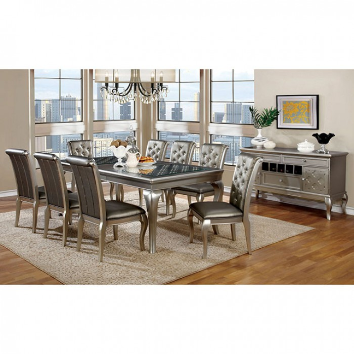 Amina Contemporary Silver Dining Set Shop For Affordable Home Furniture Decor Outdoors And More