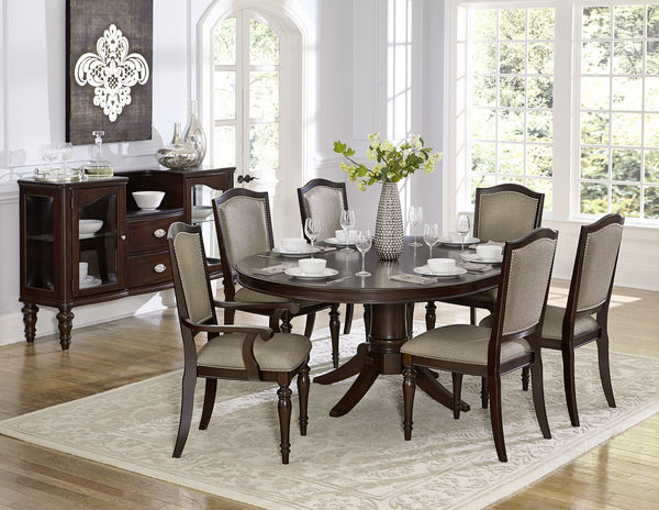 Marston Traditional Dark Cherry Wood Pedestal Dining Table Shop For Affordable Home Furniture Decor Outdoors And More