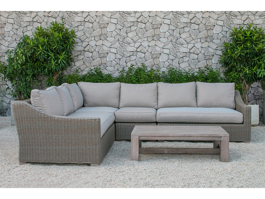 Quinlan Outdoor Beige Sectional Sofa
