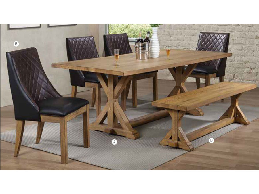 Vintage White Oak Dining Set Shop For Affordable Home Furniture Decor Outdoors And More