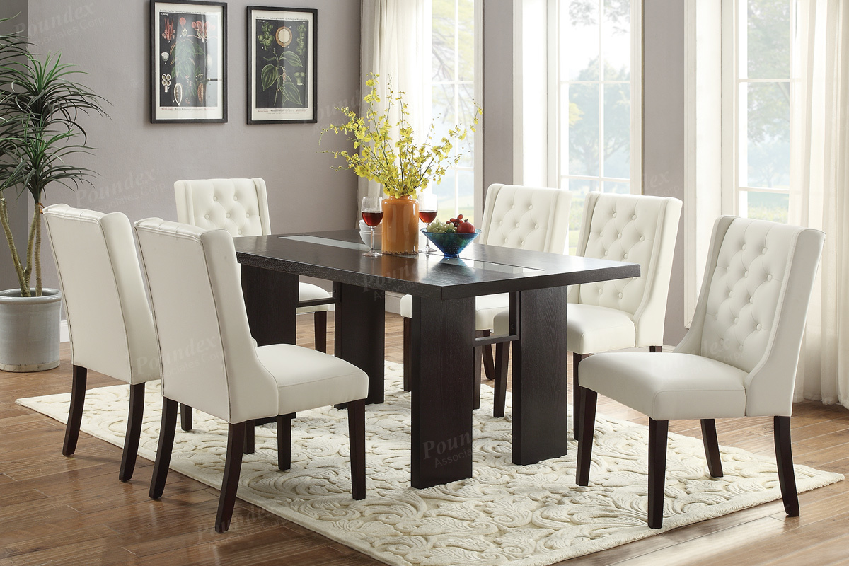 Dining Set In Dark Brown For