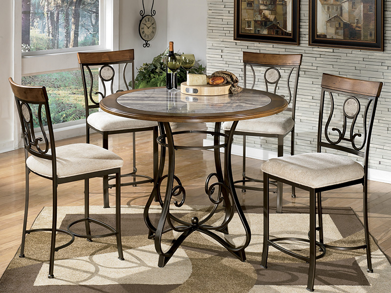 Hopestand 5pcs Counter High Dining Set, Counter High Dining Room Table Sets