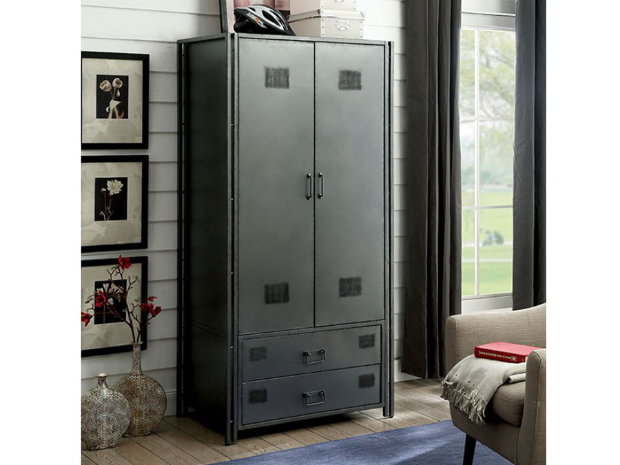 Ziva Industrial Metal Armoire Shop For Affordable Home Furniture Decor Outdoors And More