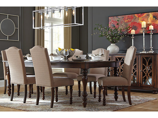 Baxenburg Rectangular Dining Set In Brown Shop For Affordable Home Furniture Decor Outdoors And More