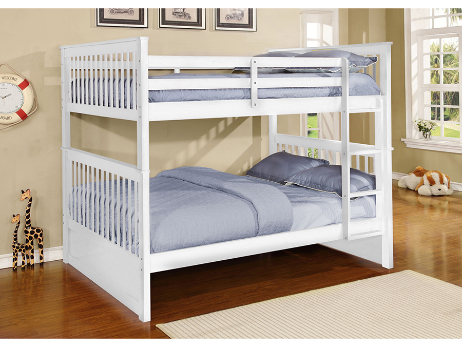 Paloma White Full Over Full Bunk Bed Shop For Affordable Home Furniture Decor Outdoors And More