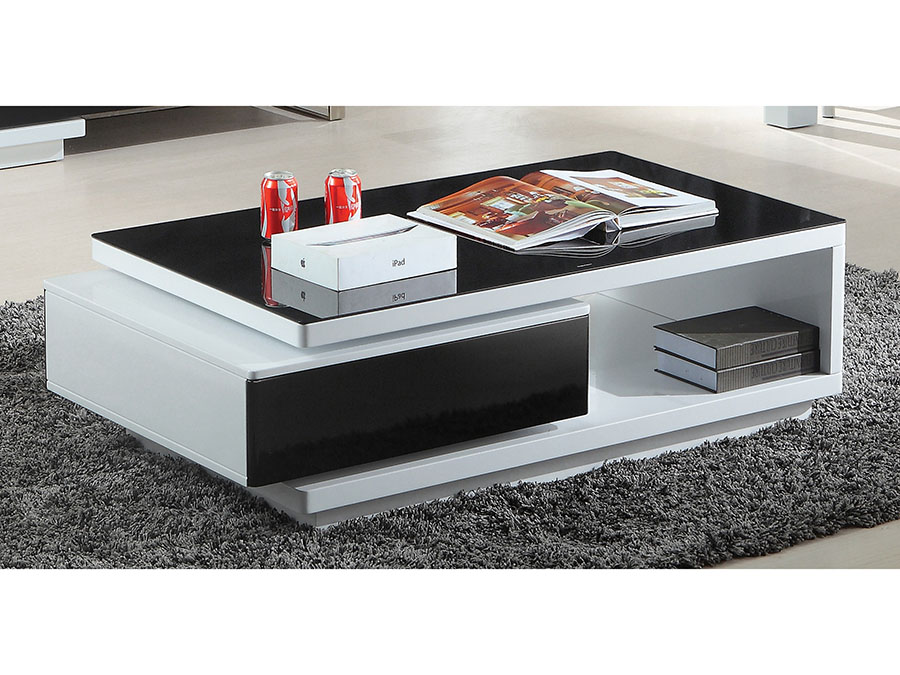 Modern Black White Coffee Table Drawer Shop For Affordable Home Furniture Decor Outdoors And More