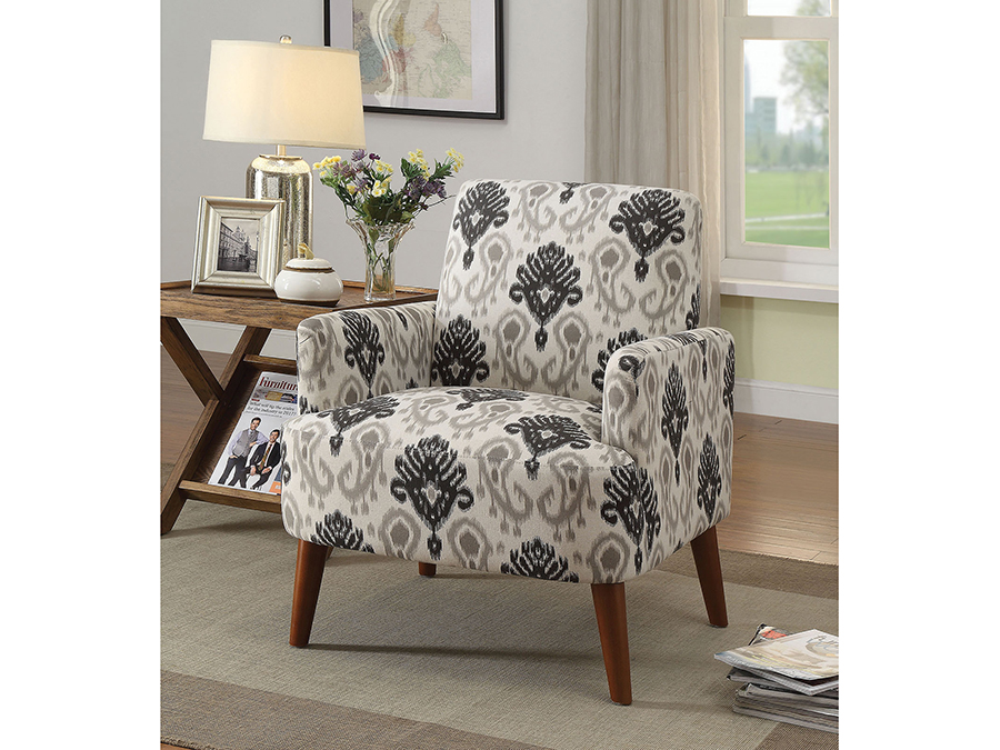 Bray Floral Pattern Accent Chair