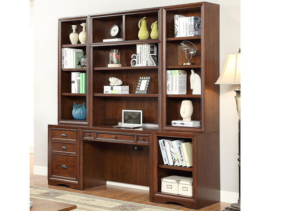 Napa 6Pcs Home Office Wall With Hutch And File Storage