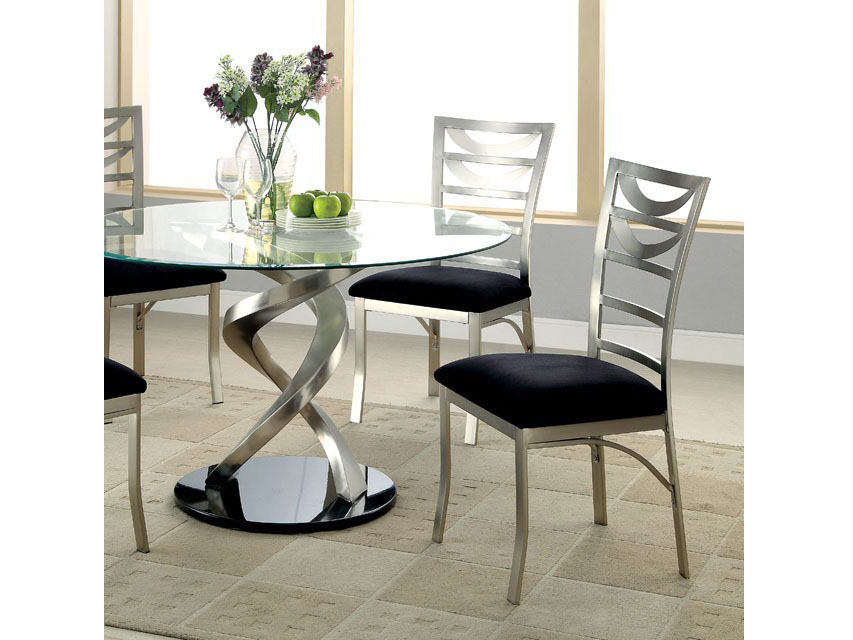 Roxo Dining Table  sc 1 st  Muuduu Furniture & Roxo Contemporary Tempered Glass Top Dining Table Set - Shop for ...