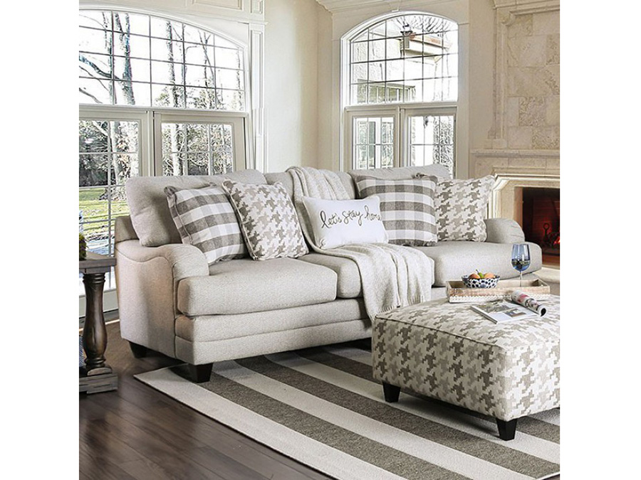 Christine Light Gray Sofa