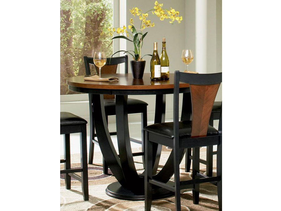 Round Amber Black Counter Height Dining Table Shop For Affordable Home Furniture Decor Outdoors And More