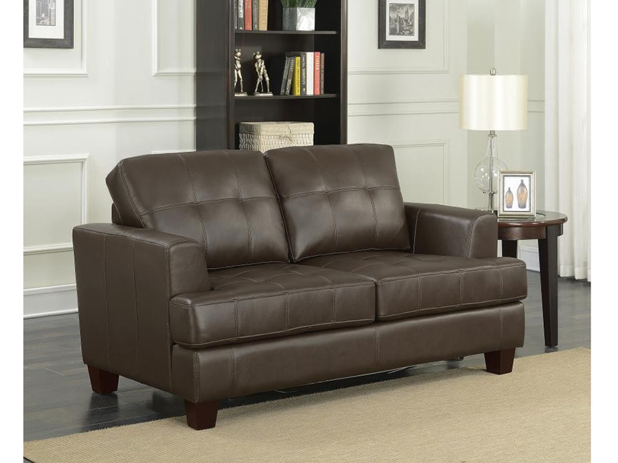 Love Seat w/ Twin Sleeper in Brown