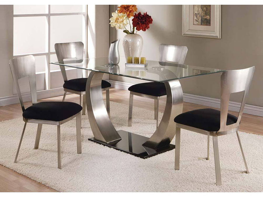 Camille Glass Top Dining Table With Metal Base Shop For Affordable Home Furniture Decor Outdoors And More