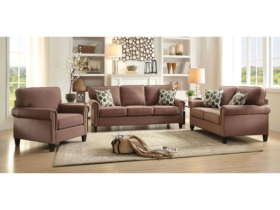 Incredible Felise Light Brown Sofa Set Squirreltailoven Fun Painted Chair Ideas Images Squirreltailovenorg
