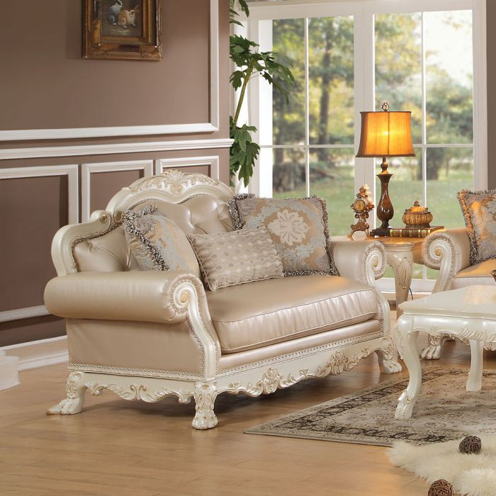 Dresden Antique White Sofa Set