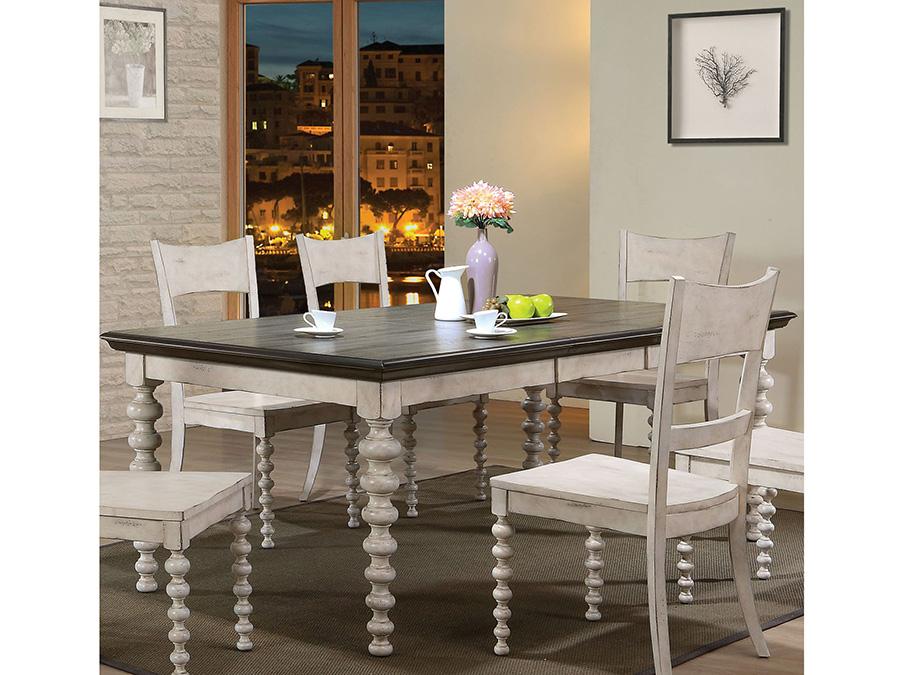 Coyana Dining Table In Antique White