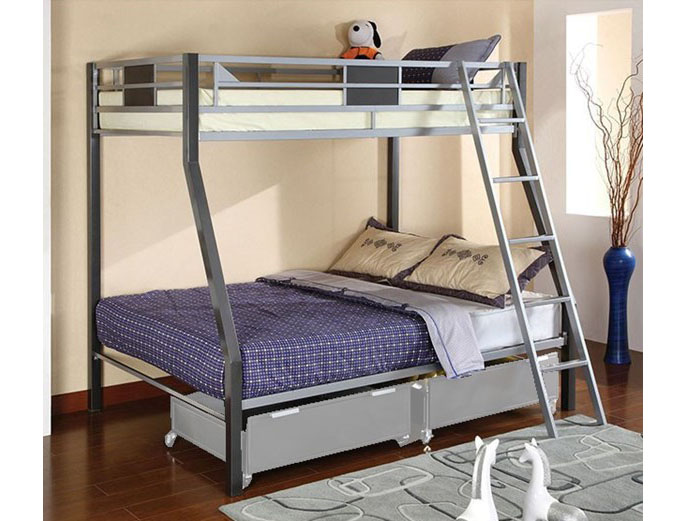 Cletis Twin Over Full Bunk Bed With