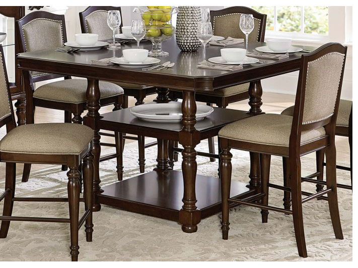 Marston Classic Dark Cherry Wood Counter Height Dining Table Shop For Affordable Home Furniture Decor Outdoors And More