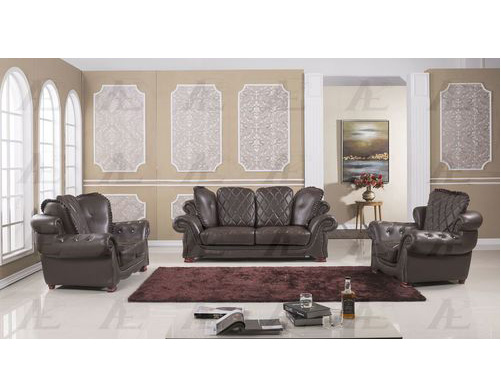 Enjoyable 3Pcs Dark Brown Faux Leather Sofa Set Pdpeps Interior Chair Design Pdpepsorg