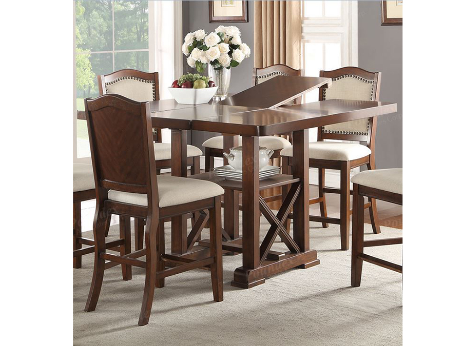 Dark Cherry Wood Storage Counter Height Dining Table Leaf Shop For Affordable Home Furniture Decor Outdoors And More