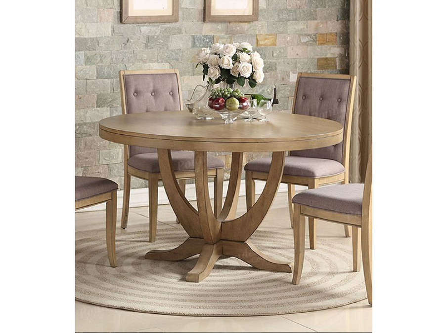 Wood Round Dining Table In Light Natural Shop For