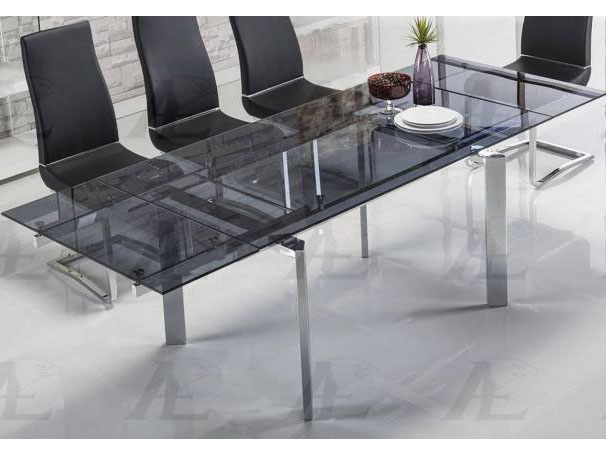 Smoked Glass Top Extendable Dining Table Chrome Legs Shop For Affordable Home Furniture Decor Outdoors And More