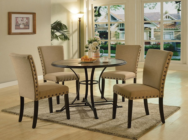 Byton Antique Light Oak Black Round Dining Table Set Shop For Affordable Home Furniture Decor Outdoors And More