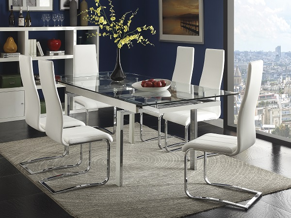 Chrome Glass Top Dining Table Set Shop For Affordable Home Furniture Decor Outdoors And More