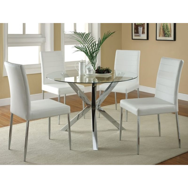 5pcs White Round Glass Dining Set Shop For Affordable Home Furniture Decor Outdoors And More