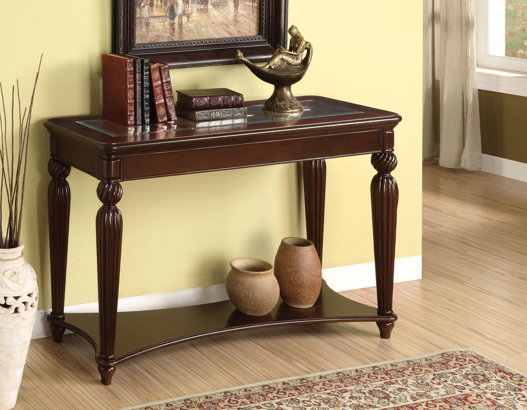 Windsor Dark Cherry Finish Sofa Table