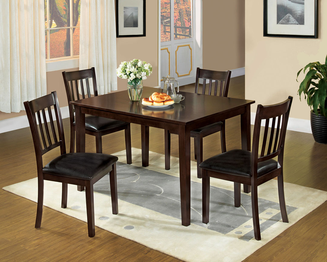 West Creek I 5pcstransitional Espresso Finish Dining Table Set Shop For Affordable Home Furniture Decor Outdoors And More