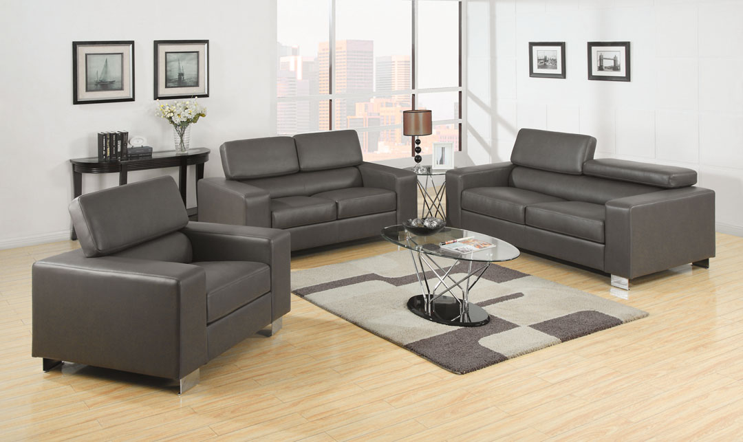 Makri Gray Sofa Set