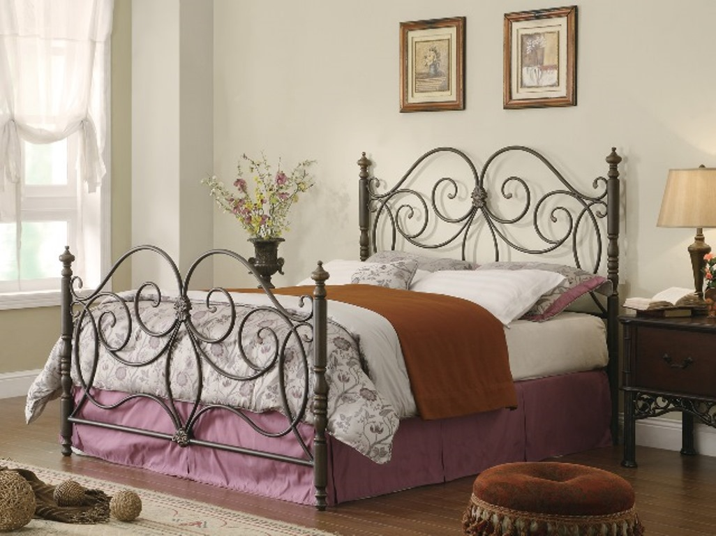 Dark Bronzen Cal King Metal Bed Shop For Affordable Home Furniture Decor Outdoors And More