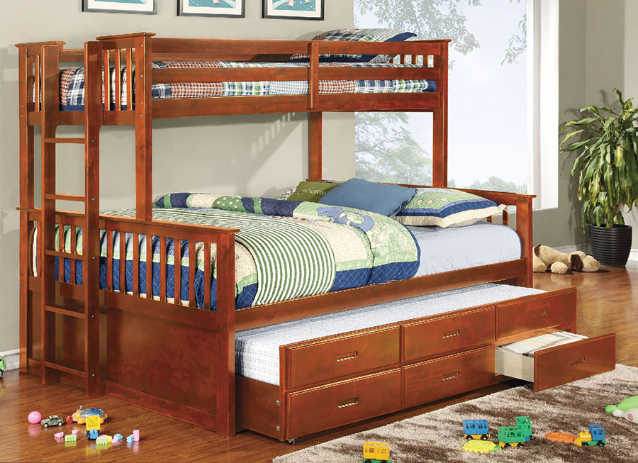 University II Twin XL/Queen Bunk Bed With Trundle