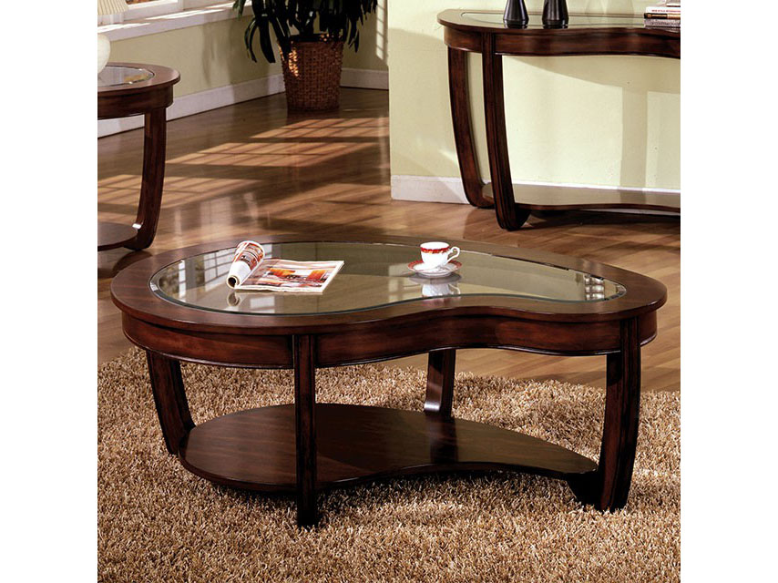 Crytal Falls Dark Cherry Coffee Table