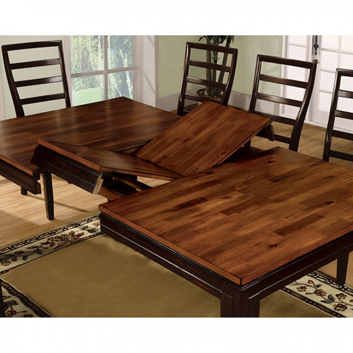San Isabel Transitional Acacia Espresso Dining Table Set