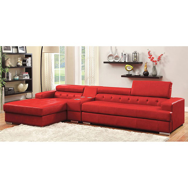 Floria Sectional Sofa In Red