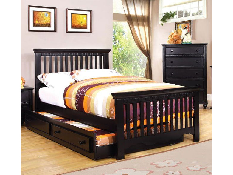 Caspian Black Twin Bed With Trundle Shop For Affordable Home