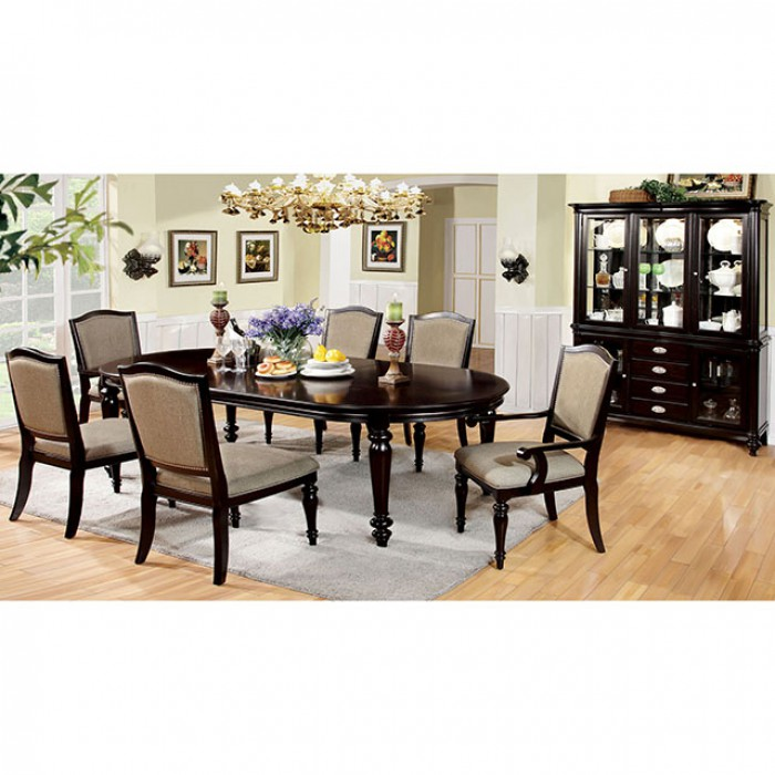 Harrington traditional dark walnut dining table set shop for Affordable furniture tempe az