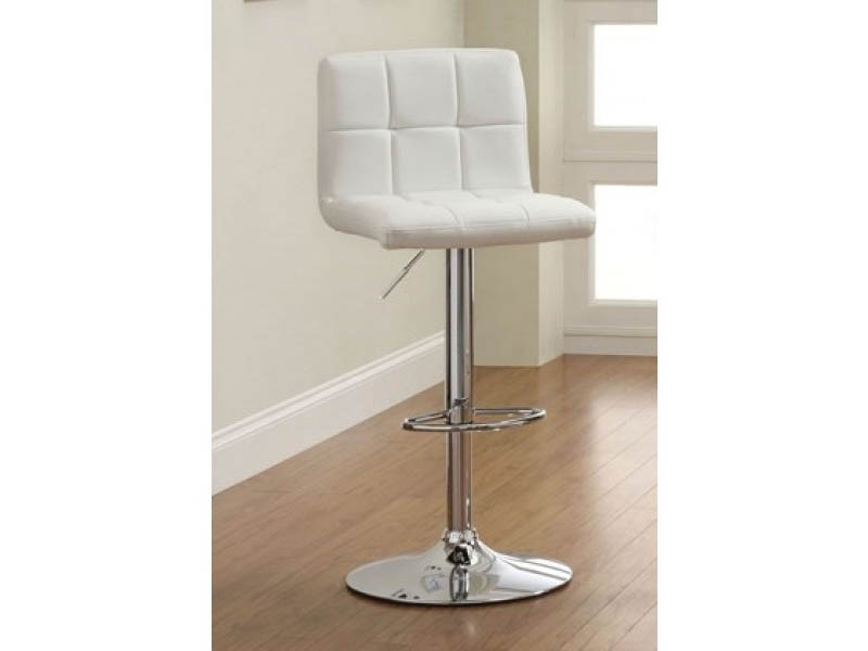 Komoe White Height Adjustable Swivel Bar Stool Shop For