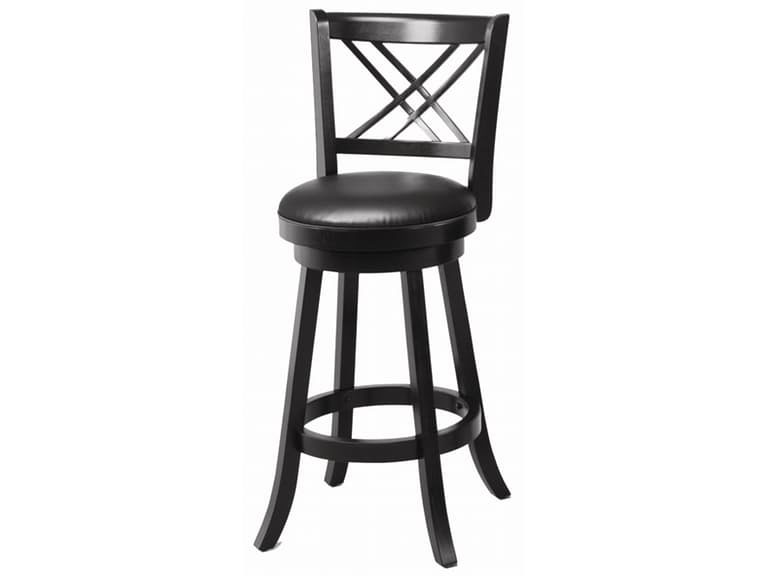 2pcs 24 Inch Black Swivel Upholstered Seat Bar Stool Shop For