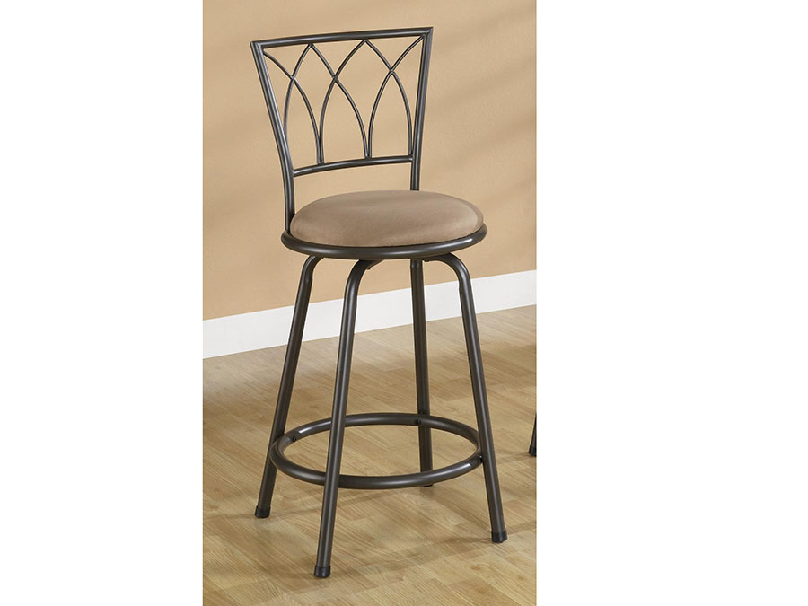 2pcs 24 Inch Black Metal Counter Height Stool Shop For Affordable