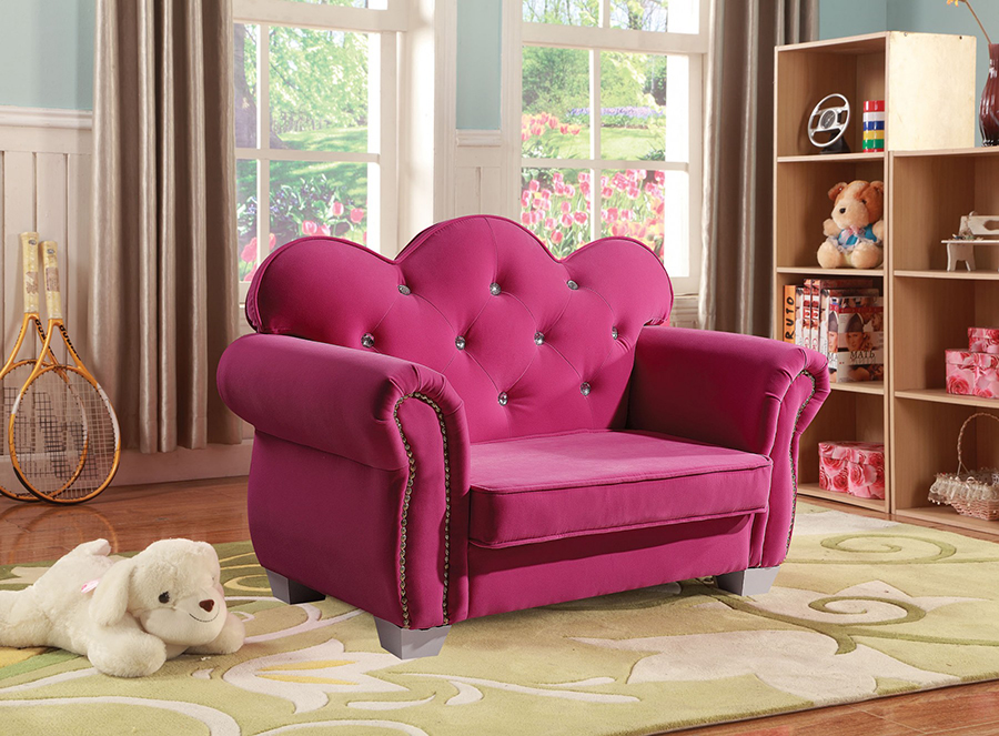Vivian Pink Fabric Youth Chair - Shop for Affordable Home Furniture ...