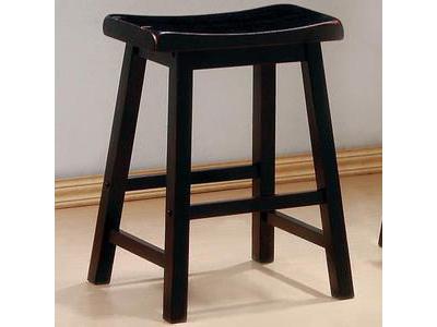 2pcs 24 Inch Black Saddle Bar Stool Shop For Affordable Home